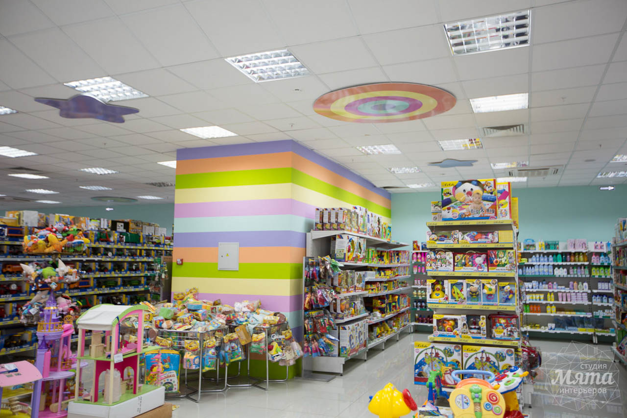 Дизайн интерьера и ремонт детского гипермаркета по ул. Щербакова 4 22