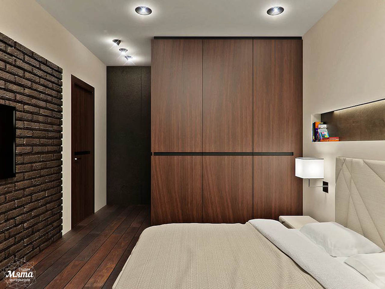 Дизайн интерьера однокомнатной квартиры в стиле хай тек по ул. Щербакова 35 img450897533