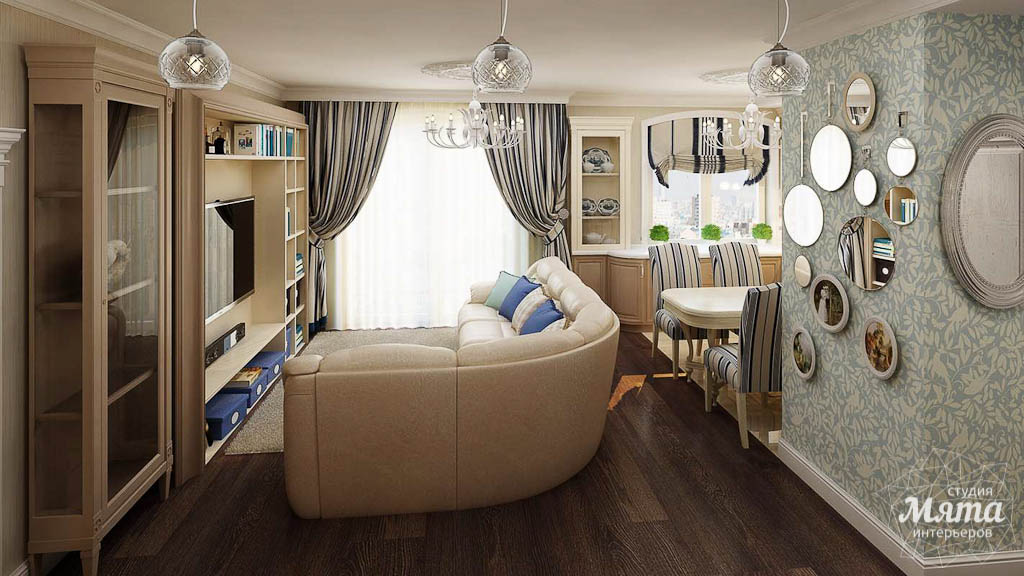 Дизайн интерьера однокомнатной квартиры по ул. Юмашева 10 img581518186