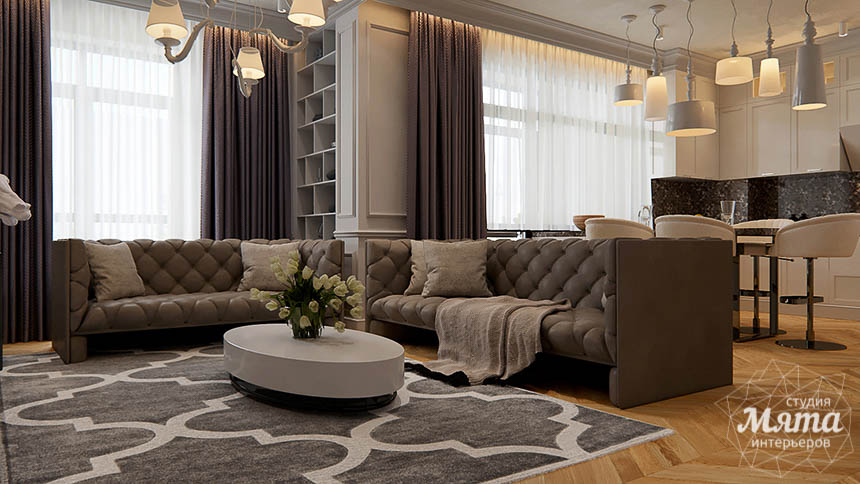 Дизайн интерьера четырехкомнатной квартиры в Новосибирске img666963221
