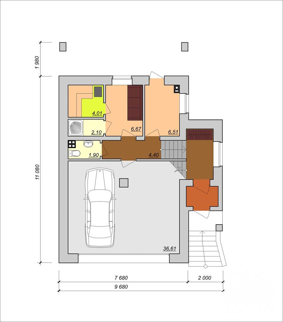 Дизайн фасада коттеджа 200м2 в КП Палникс 6