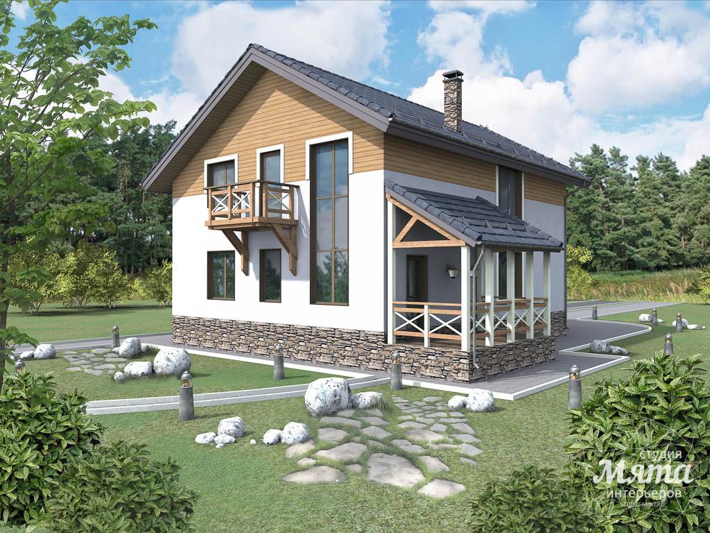 Дизайн фасада коттеджа 205м2 в г. Нижневартовск 3