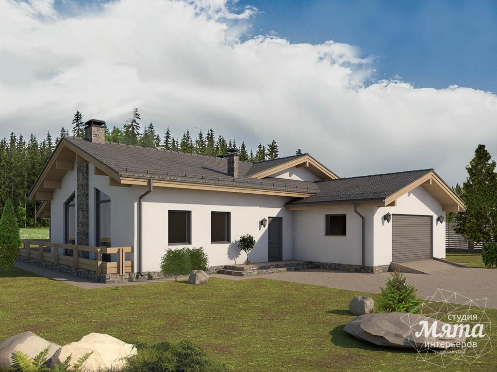 Дизайн-проект фасада коттеджа 240 м2 в КП Мельница 2