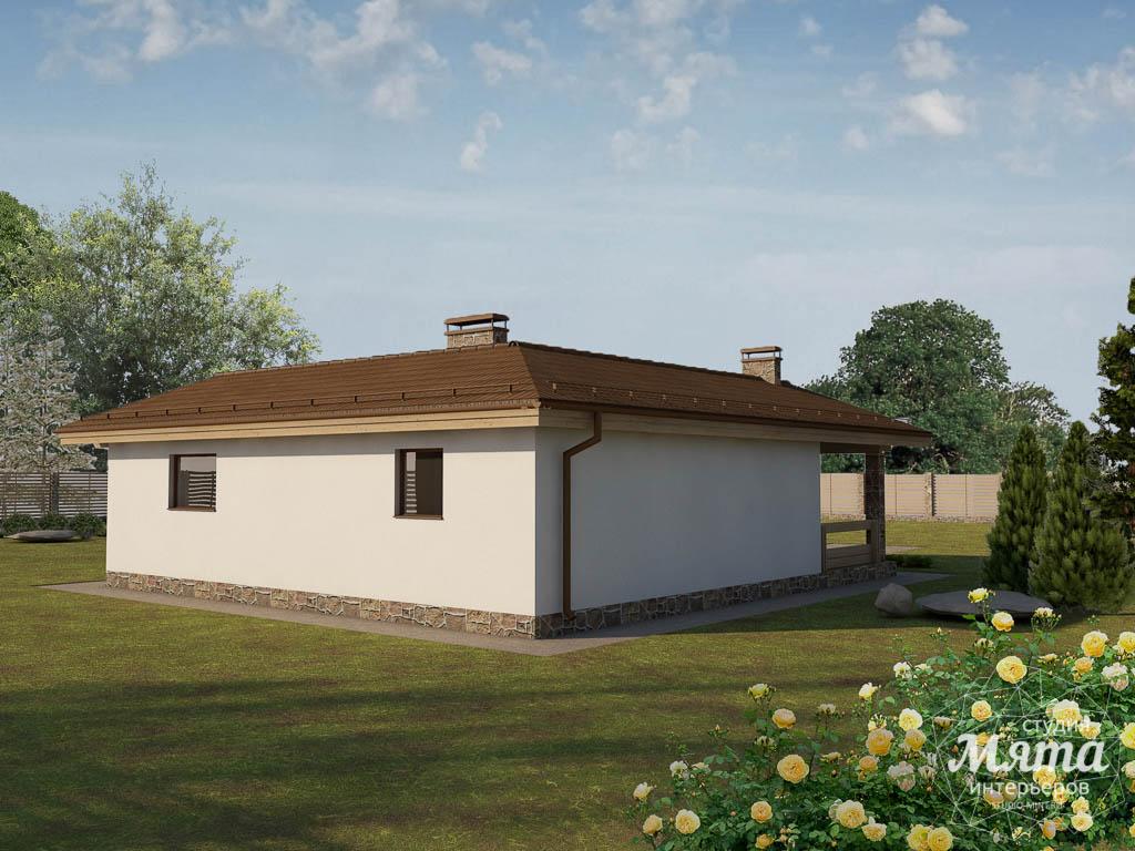 Дизайн фасада дома 80 м2 в Краснодаре 2