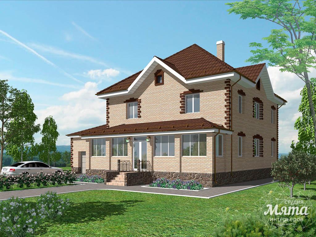 Дизайн проект фасада коттеджа 290 м2 в г. Сургут 1