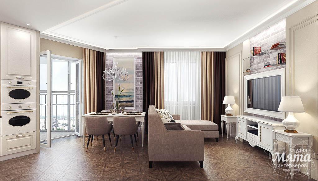 Дизайн интерьера гостиной и санузлов четырехкомнатной квартиры в ЖК Флагман img405588990