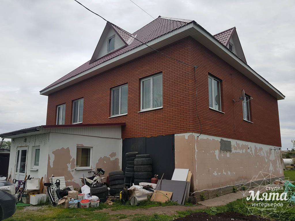 Дизайн фасада дома 532 м2 и бани 152 м2 г. Арамиль 6