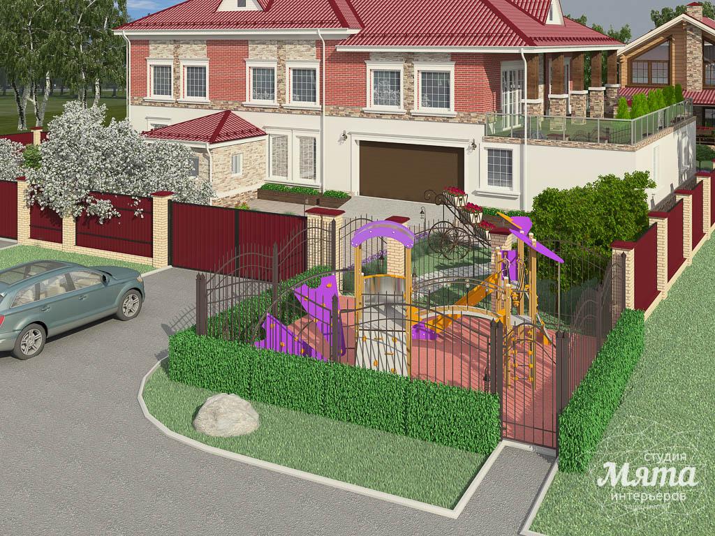 Дизайн фасада дома 532 м2 и бани 152 м2 г. Арамиль img1086427360