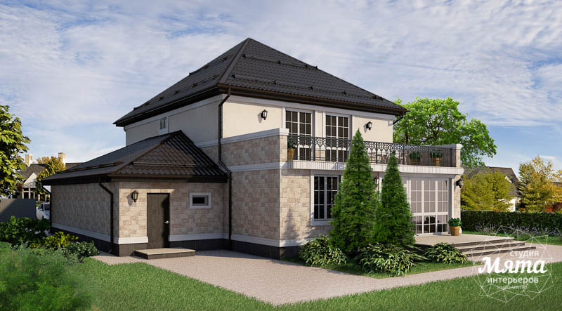 Дизайн фасада коттеджа 200 м2 в г. Тюмень img1074349192