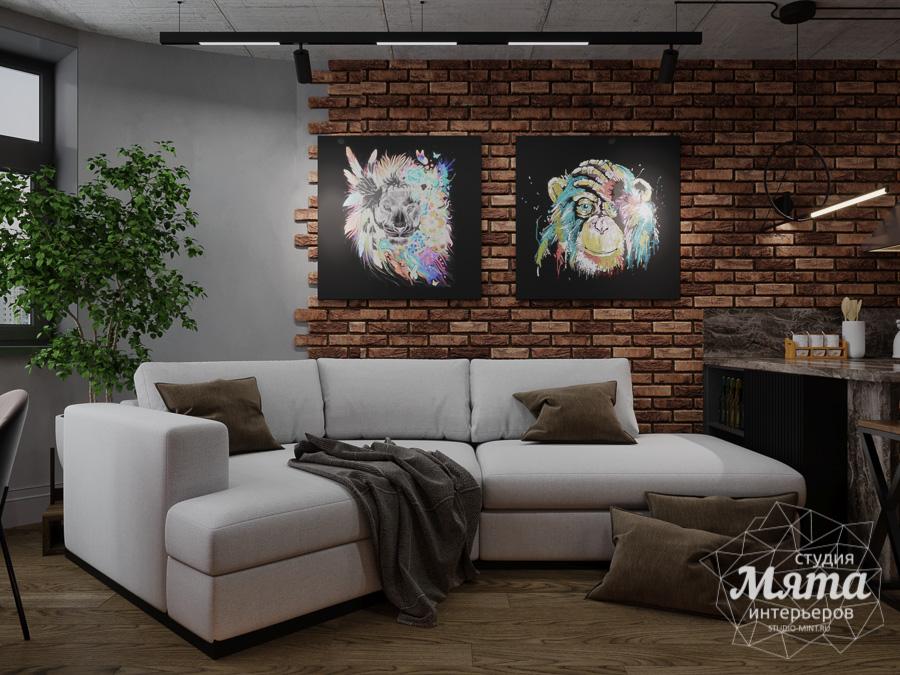 Дизайн интерьера квартиры в стиле лофт ЖК Солнечный Остров img1165493941
