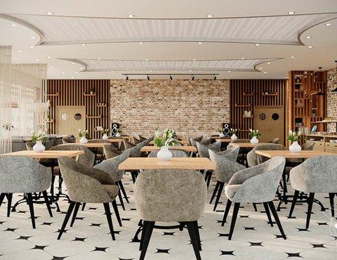 Дизайн интерьера ресторана термального комплекса Акварель г. Туринск