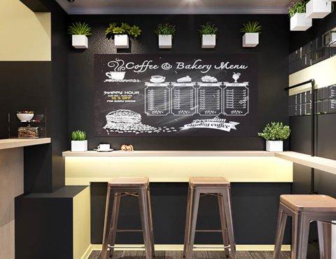 Дизайн интерьера мини-кофейни по ул. Большакова 107