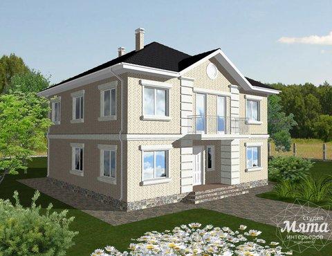 Дизайн проект фасада дома 200 м2