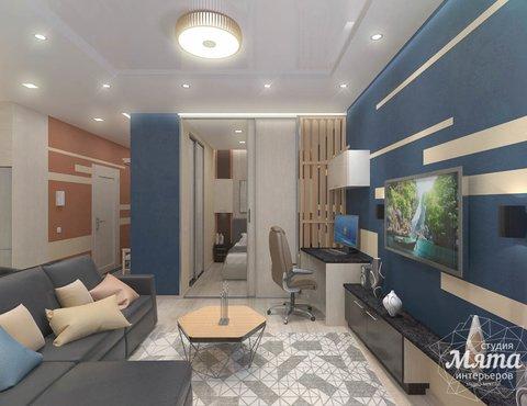 Дизайн интерьера однокомнатной квартиры в ЖК Крылов