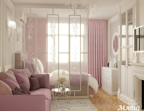 Дизайн интерьера однокомнатной квартиры ЖК Солнечный Остров