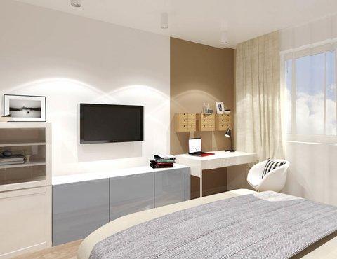 Дизайн интерьера двухкомнатной квартиры по ул. Машинная 40