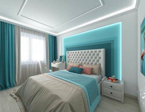 Дизайн интерьера двухкомнатной квартиры в ЖК Первый Николаевский